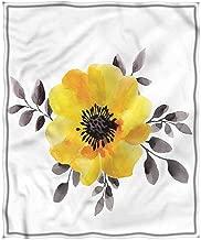 Merry Christmas,Chrismas Blanket,Blanket for Winter Plush Blanket Double Print Flower Watercolor Single Flower Art Breathable All Season Use Twin(66