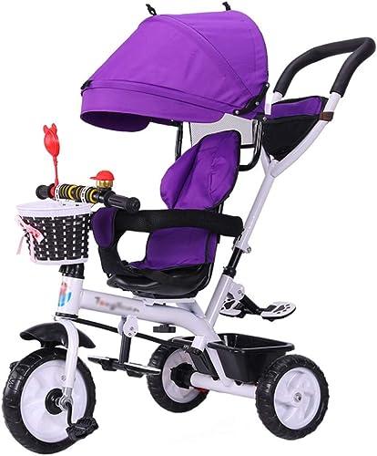 mas barato Bicicleta Trike para Niños con con con triciclo triciclo 4 en 1 con arnés de seguridad y toldo desmontable con carrito para bebé por 6 meses - 6 años  más descuento