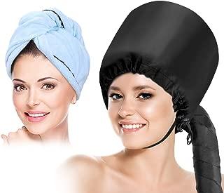 Capucha para secador de pelo con capucha, suave y ajustable para secar, rizado, estilizado profundo, con toalla seca