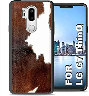 TalkingCase Phone Cover for LG G7 ThinQ, Dairy Cow Fur Pattern Print,Dual-Layer Thin Edge Guard Bumper,Impact Absorption, Designed and Printed in USA