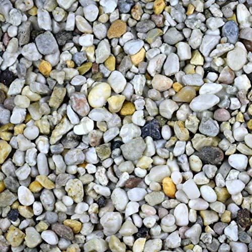 Zierkies 25 kg 8-16 mm Quarzkies Buntkies Aquarium Garten Weg Kies Steinteppich