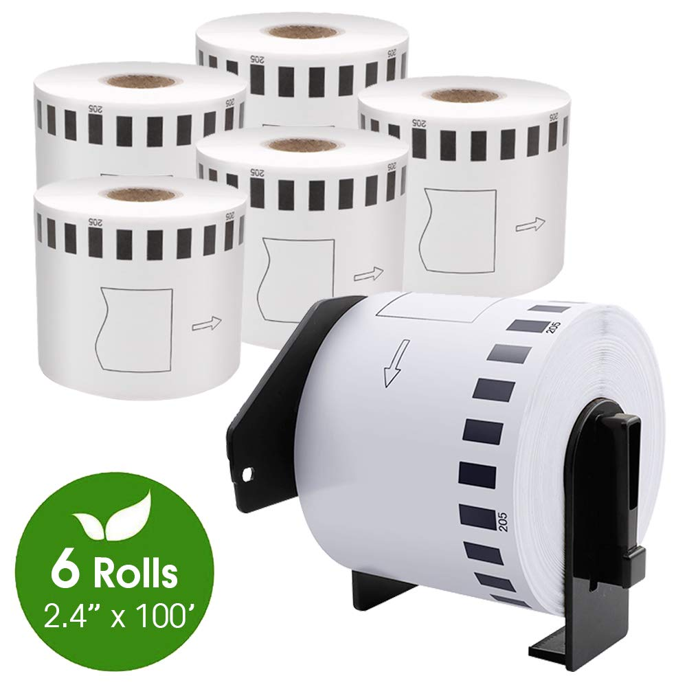 2 Reusable Frames 20 DK-2205 Replacement Rolls Compatible w// Brother