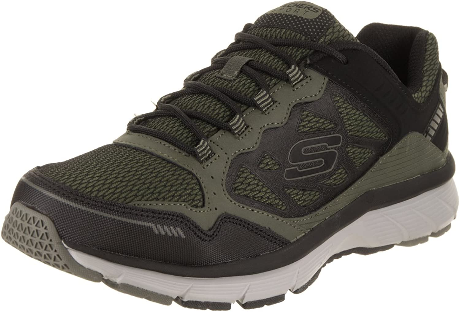 Skechers Mens Bowerz Trainers in Black- Lace Fastening- Padded Collar and