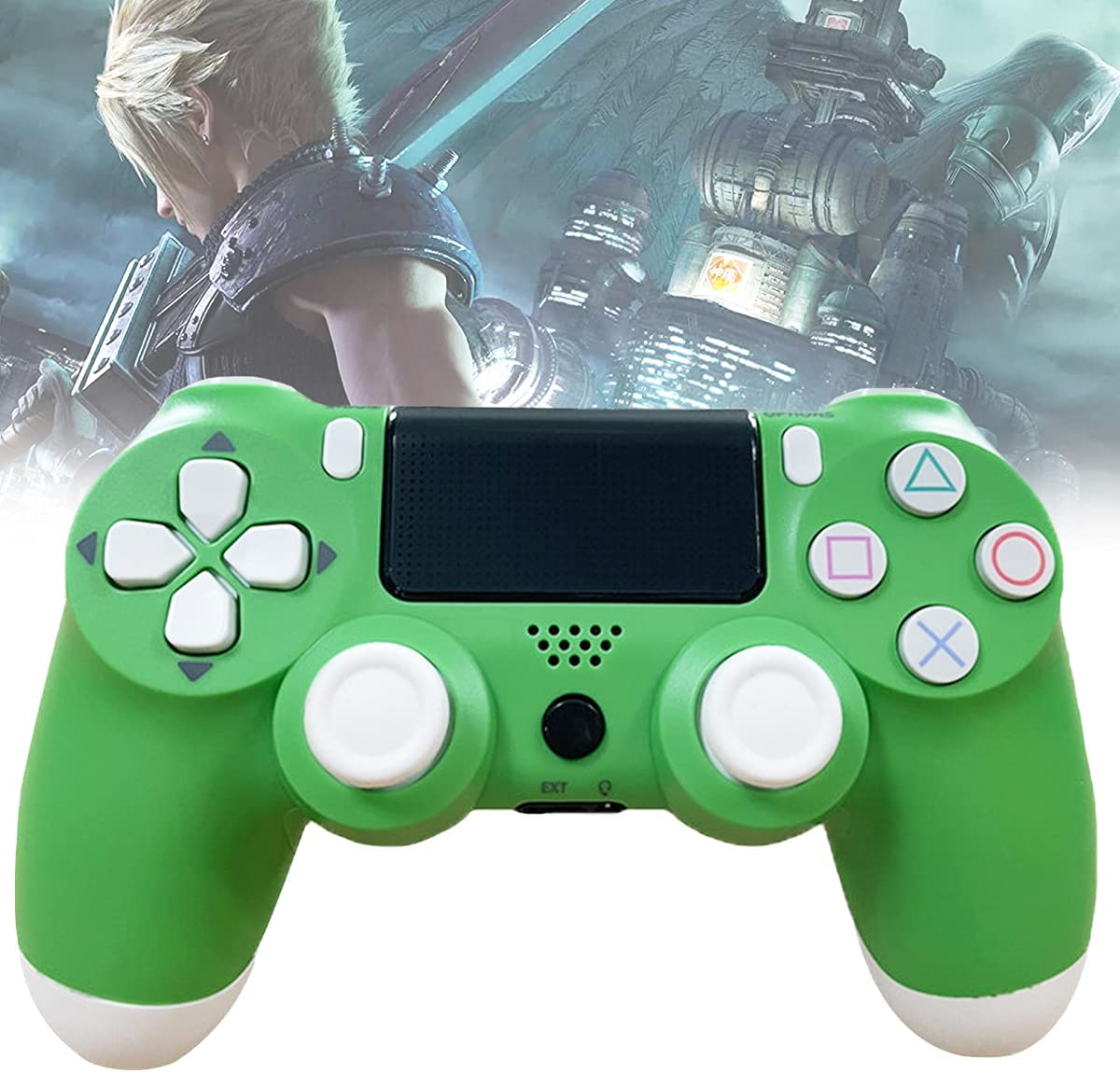 Wireless Controller for Playstation 4, Gamepad Joystick for DualShock 4/PS4/Pro/Slim Console with Headset Jack/Dual Vibration/Speaker/Touch Pad/Six-axis Motion Control with Charging Cable, Green