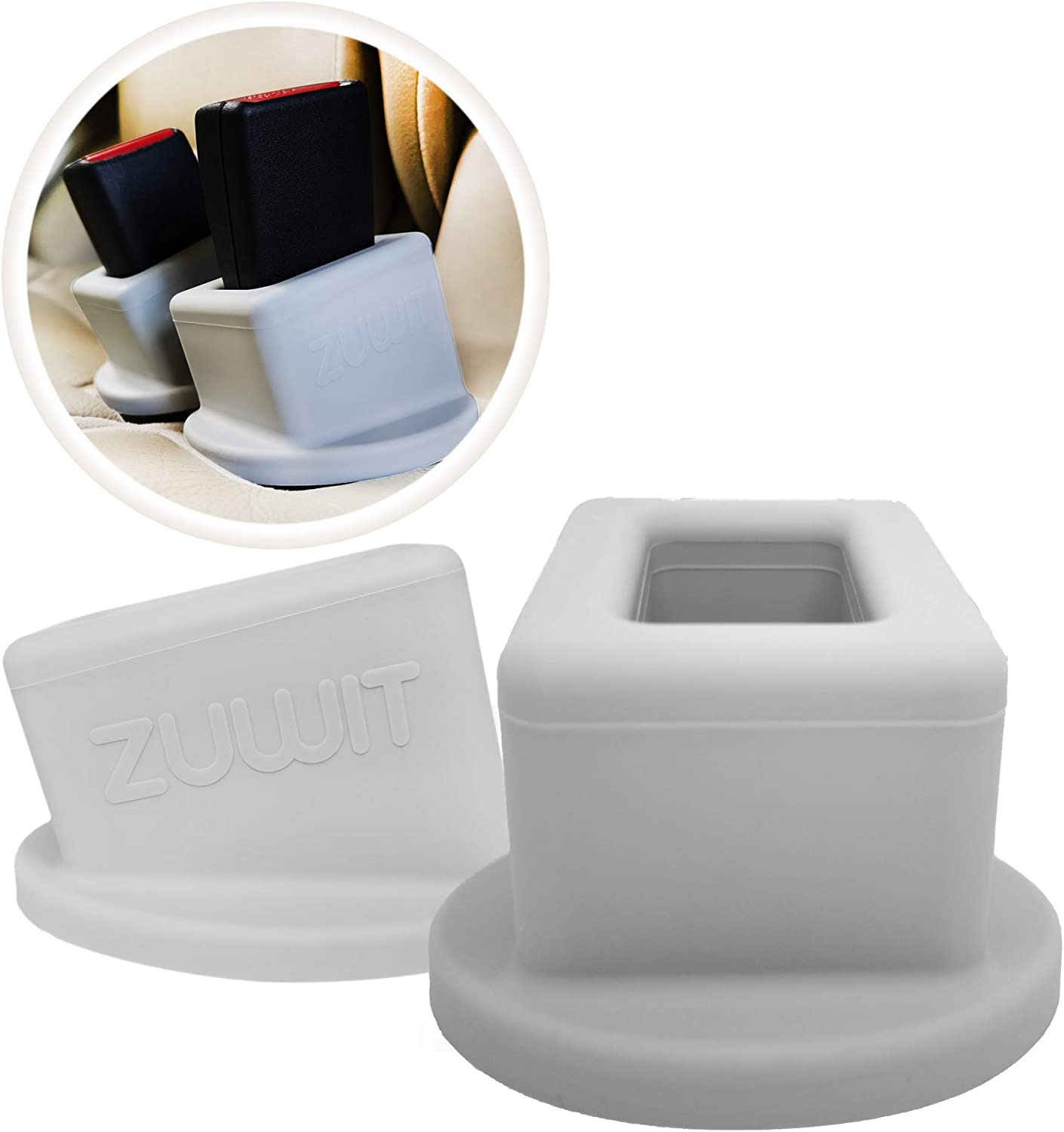 Plug The Seat Belt in with Only One Hand Grey and Passengers with Special Needs Easy Access to The Buckles of Rear Seats ZUWIT Seat Belt Buckle Holder Friendly to Kids