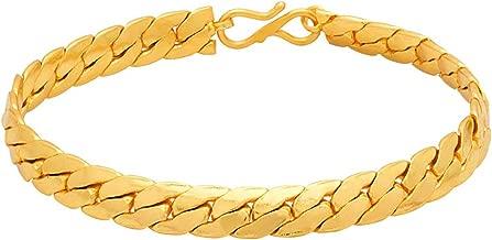 Voylla Strand Bracelet for Men (Golden)(8907617107837)