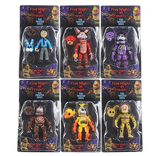 LUNK FNAF Action Figures Set of 6 pcs FNAF Action Figures Toys Dolls Gift, 5'