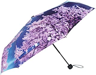 Only Small Fresh Three Fold Weatherproof Umbrella Single Layer Anti Zzbiao (Color : Sakura)