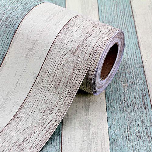 Keleily Pegatinas Adhesivas para Encimera 60cm x 3m Suelo Vinilo Autoadhesivo Papel Adhesivo Pared para Mesa, Gabinetes, Encimera, Cocina, Pared, Azul - B