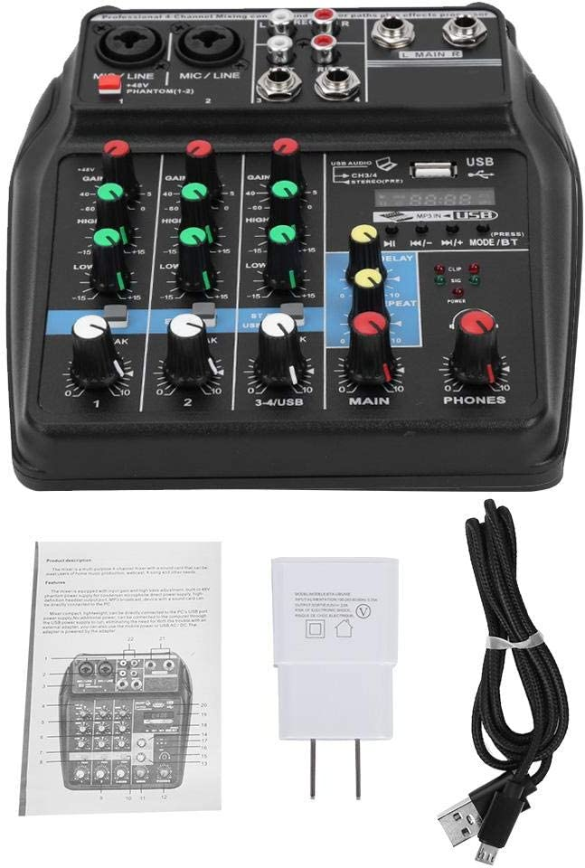 Excellent Professional Stage Mixer 4-Channel Conso Board Audio Free Shipping New Sound