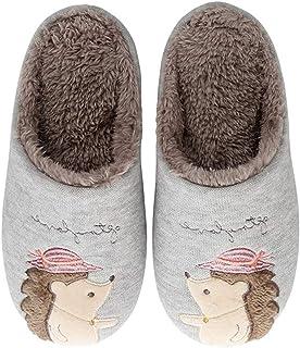 Tomwell Zapatillas de Mujer Hombre Niño Niña Invierno Cálido Peluche Antideslizantes de Animales Zorro Pantuflas de Casa S...