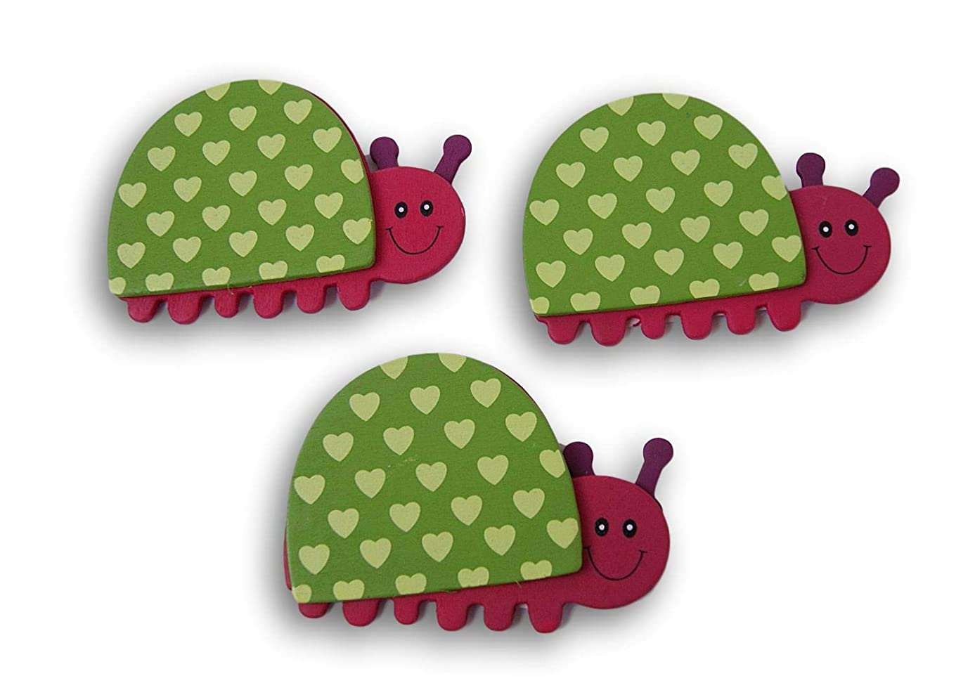 Natural Wood Painted Love Bug Cutouts - Set of 3-2.75 x 4 Inches