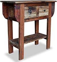 vidaXL Solid Reclaimed Wood Console Table 80x35x80cm Display Desk Furniture