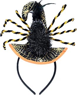 Halloween Witch Mini Top Hat Veil Headband Hair Clip Costume Dress Up Party