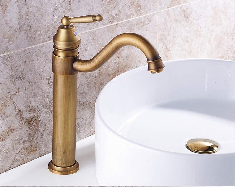 Zlxzlx Bathroom Faucet Copper Antique Faucet Mixer Faucet Arts Counter Basin Hot and Cold Water Taps redatable Grifo Lavabo