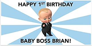 Boss Baby Birthday Banner Personalized Party Decoration