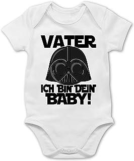 Shirtracer Vater ich Bin Dein Baby - schwarz - Baby Body Kurzarm für Jungen und Mädchen