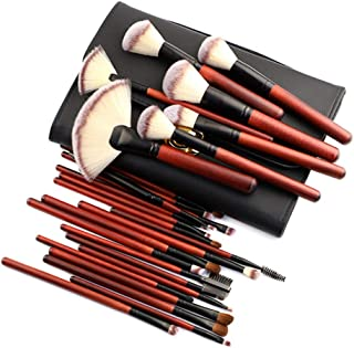 Makeup Brush Set, 26 Pieces Professional Bamboo Handle Cosmetic Brushes Premium Synthetic for Foundation Blending Blush Concealer Highlighter Eye Shadows Lipstick, Cosmetic Bag Include