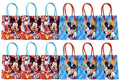 Disney Mickey Mouse Party Favor Goodie Gift Bag - 6 Small Size (12 Packs) by Disney
