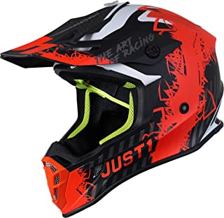 Just1 J38 Mask Motocross Helm Orange/Schwarz M 57/58