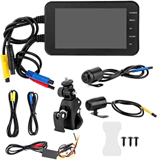 Aramox Motorcycle DVR,4 Inch Motorcycle DVR 1080P Waterproof WiFi Front & Rear Camera Driving Video Recorder Dash Cam