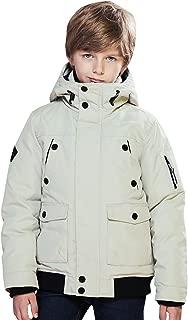 Kids Boys Down Jacket Warm Heavyweight Tough Thick Hooded Lined Winter Coats Waterproof Windbreaker
