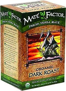 Mate Factor Herb Tea, Energizing, Organic, Dark Roast, Bags
