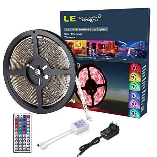 Amazon.co.uk - RGB LED Strip Waterproof 5m 150leds, 12V DC, Remote Controller and Power Supply