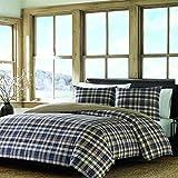 Eddie Bauer Port Gamble Comforter Set King Blue 3 Piece