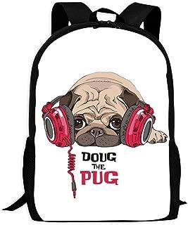 Beyeo Doug the Pug Fashion School Bag for Boys and Girls