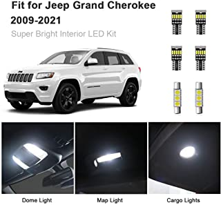 AWALITE 15pcs Grand Cherokee Interior LED Lights Kit Super Bright LED Map Dome Light Bulbs for 2011-2020 Jeep Grand Cherokee All Models