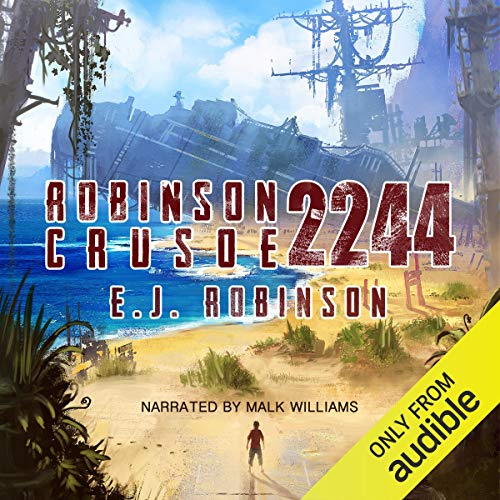 Robinson Crusoe 2244 audiobook cover art
