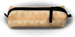 Kui Ju Pencil Bag Pen Case Bees Art Design Cosmetic Pouch Students Stationery Bag Zipper Organizer