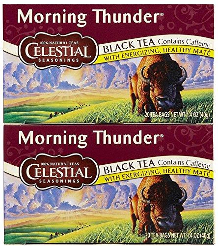 Celestial Seasonings Morning Thunder Tea Bags - 20 ct - 2 Pack