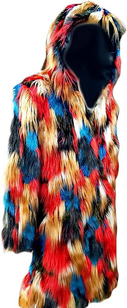 Men Faux Fur Coat Mens Winter Warm Overcoat Jacket Sale item Thicker San Antonio Mall Long