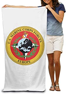 Seal of United States Marine Corps Forces Adult Beach Towels Fast/Quick Dry Machine Washable Lightweight Absorbent Plush Multipurpose Use Quality Towels for Swim,Pool,Beach,Gym,Camping,Yoga