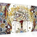 Runa Art El Árbol De La Vida De Klimt Cuadro Murales Sala XXL Vistoso Resumen Árbol 120 x 80 cm 3 Piezas Decoración de Pared 004631a
