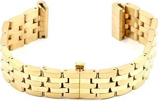 "Swiss Legend 22MM 7.5"" Stainless Gold Watch Band Strap Bracelet fits SL 32MM Diamond Watch"