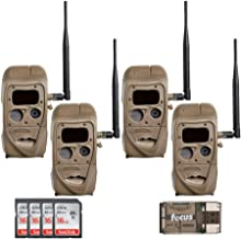 Cuddeback CuddeLink J Series J-1422 Black Flash 20MP Trail Camera 4-Pack with 8 Memory Cards and Focus Reader