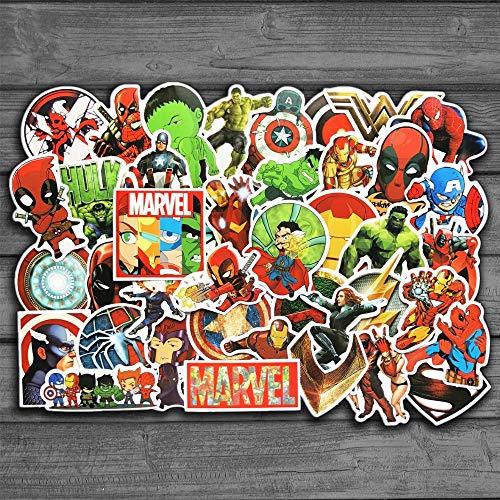 DZCYAN 50Pcs / Lot Anime Classic Stickers Jouet pour Ordinateur Portable Planche À roulettes Sticker Bagage Étanche Drôle Spiderman Autocollants pour Enfants