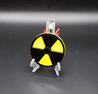 Nuclear Radioactive Symbol Inspired Christmas Ornament (Science Christmas Prop)