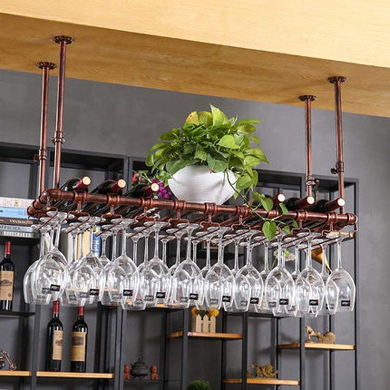 Red Wine Shelf Wine Rack Holder Goblet Glass Rack Glassware Decoration Storage (Size   80cm35cm) (Size   60cm35cm)
