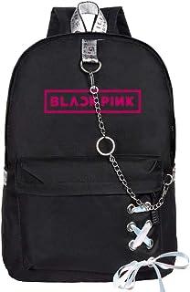 Blackpink Mochila Casual Mochila Street Style School Bags Impresión en Color sólido Mochilas de Viaje Bolsas de Personalidad Negras Unisex (Color : A01, Size : 29 X 13 X 40cm)