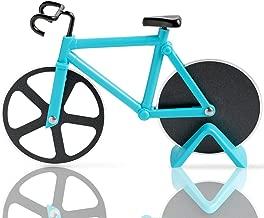 KUONIIY Tagliapizza Bicicletta, Rotelle Tagliapizza, Rotelle da Taglio in Acciaio Inox, con Supporto (Azzurro, 19 cm * 12 cm * 4 cm)