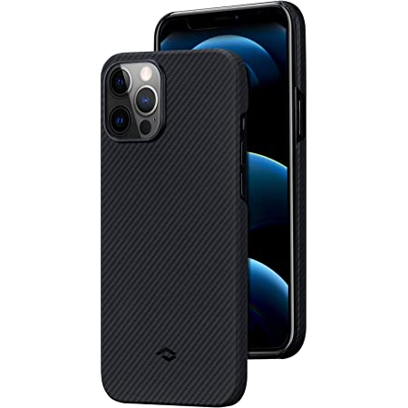 "PITAKA Thin Phone Cover Compatible with iPhone 12 Pro Max 6.7"" Air Case Selected 600D Premium Aramid Fiber Ultra Light Carbon Style Minimalist Phone Cover"