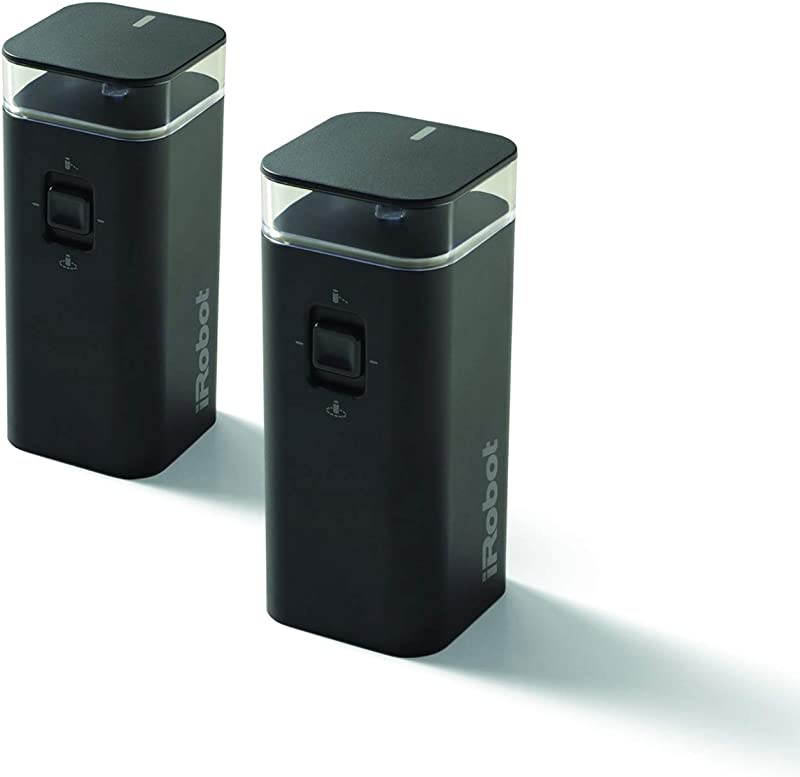 IRobot Dual Mode Virtual Wall Barrier 2 Pack Accessories Black Renewed