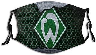 GABRI Mundschutz Gesichtsschutz Bremer Fu/ßballmannschaft Logo 7 Antistaub Waschbar und Wiederverwendbar Bandana mit Filtern