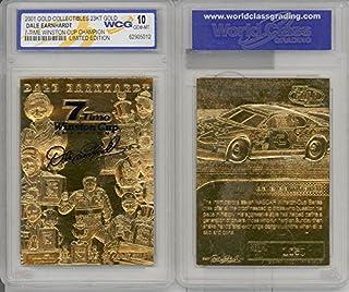 DALE EARNHARDT 2001 23KT Gold Card Sculpted *7-TIME CHAMPION* Graded GEM MINT 10
