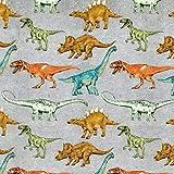 Fabulous Fabrics Jersey grau, Tier, 150cm breit – zum