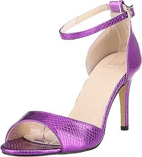 Vimedea Womens Stiletto Sandals Ankle Strap All Match Dress Pumps 8CM Bride Wedding